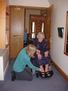 Adaptive reflexology in wheelchair